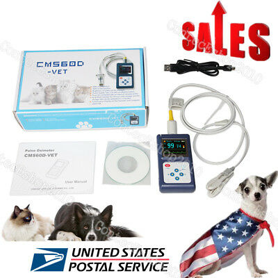 Us Seller Veterinary Pulse Oximeter Handheld Spo2 Pr Monitor Vet Tongue Probesw