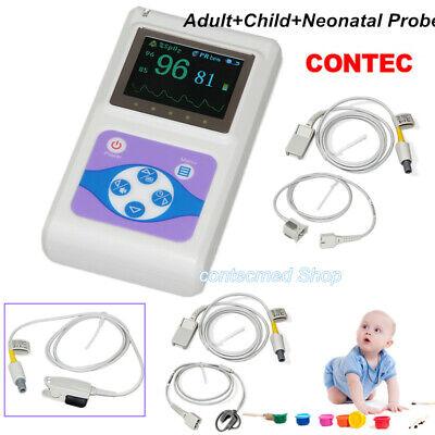 Contec Cms60d Handheld Pulse Oximeter Adultpaediatricneonatal 3 Probes 2019 Us