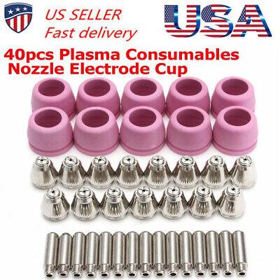Tips Consumables For Fit Lotos Plasma Cutter Ltp5000d Ltp6000 Ltpdc2000d 40pcs
