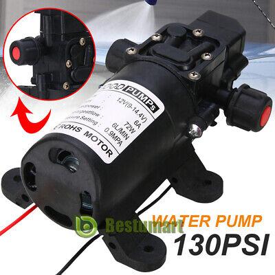12v Water Pump Diaphragm Self Priming Sprayer Marine Boat High Pressure Auto New
