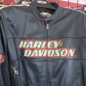 Men's Harley Davidson Leather Motorcycle Jacket Large  RE-GEAR