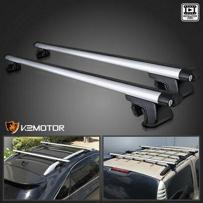 "53"" Aluminum Car Top Cross Bar Crossbar Roof Rack Pair For Cargo Luggage"