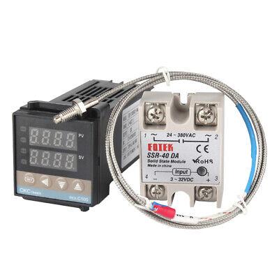 Ac 110-240 Digital Pid Temperature Controller 40a Ssr K Thermocouple Sensor