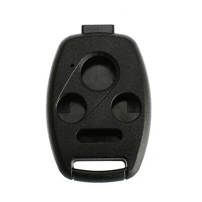 Key Shell  For Honda Accord Civic CR-V Replacement 3+1 Buttons No Blade Black Honda Replacement Blade