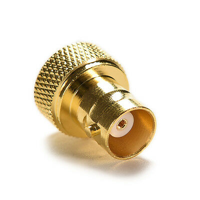 BNC female jack to SMA male plug RF connector straight gold plating Adapter PK