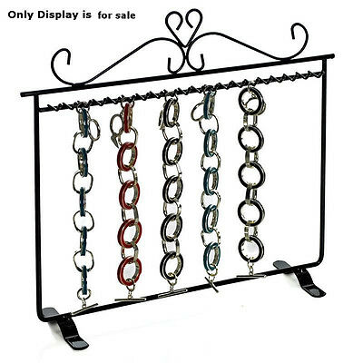 New Black Metal Hanging Bracelet Display With Dual Stand Base 11.75w X 11.25h