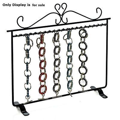Metal Hanging Bracelet Display In Black 11.75w X 11.25h Inches