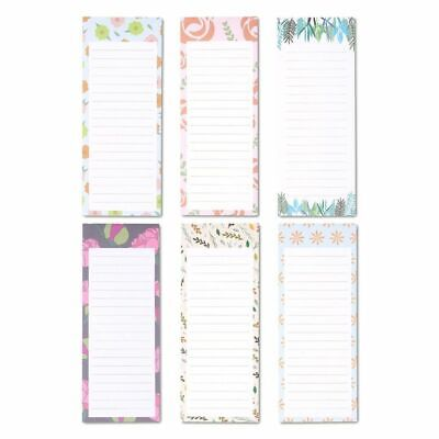 """6x Magnetic Notepads Grocery Shopping List for Refrigerator Animal 3.5 x 9"""""""