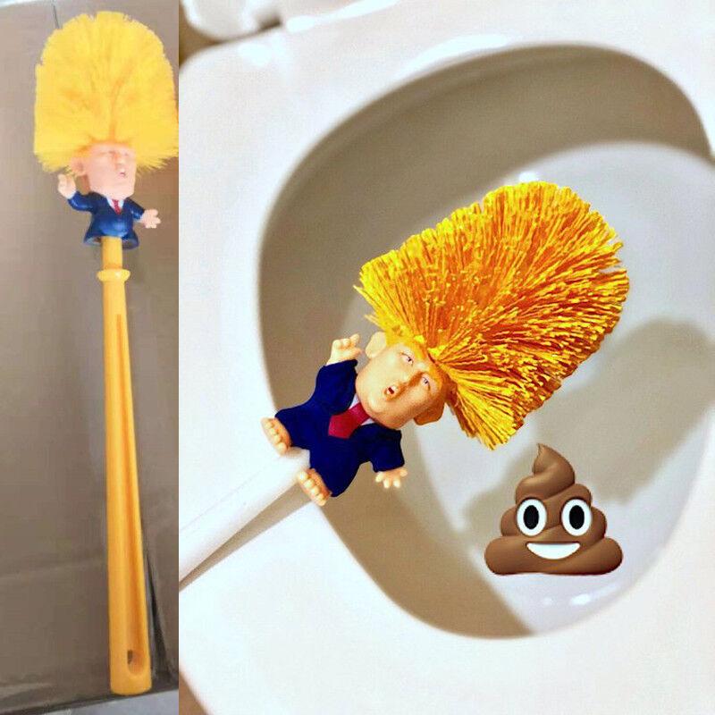Donald Trump hand made Toilet Bowl Brush Funny Gag Gift Christmas Xmas KY
