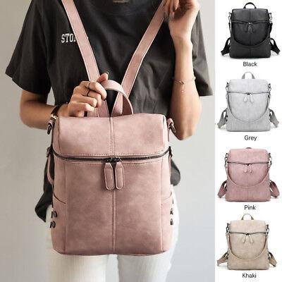 Womens New Backpack Travel Pu Leather Handbag Rucksack Shoulder School Bag