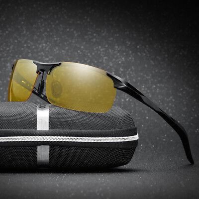 Night Vision Mens Polarized Sunglasses Sports Driving Goggles Aluminum (Sports Goggles Uk)
