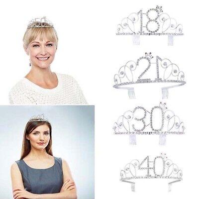 Anniversary Birthday Crown Headband 18 20 30 40th Shining Birthday Party - 40th Birthday Tiara Crown
