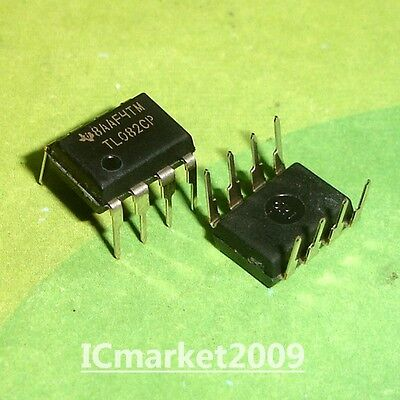 50 Pcs Tl082cp Ti Dip-8 Tl082 General Purpose Jfet Dual Operational Amplifiers