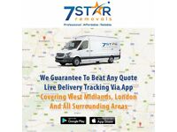 short notice:7 star removals download mobile app get quote live delivery tracking via app