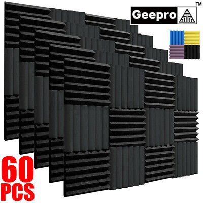 50pcs 2x10x10acoustic Record Studio Soundproofing Foam Panel Wall Tiles