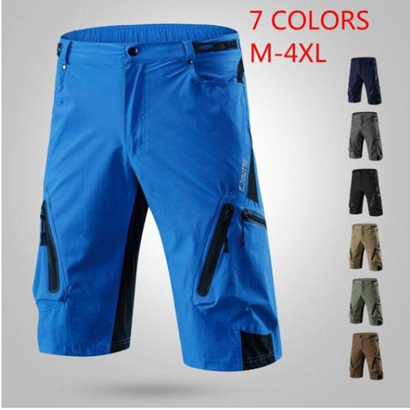 7 Colors M-4XL Men Cycling Shorts Mountain Bike Breathable L
