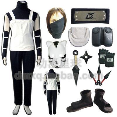 Naruto Outfits (Naruto:Shippūden Hatake Kakashi Cosplay Outfits Adult Children Full Suit)