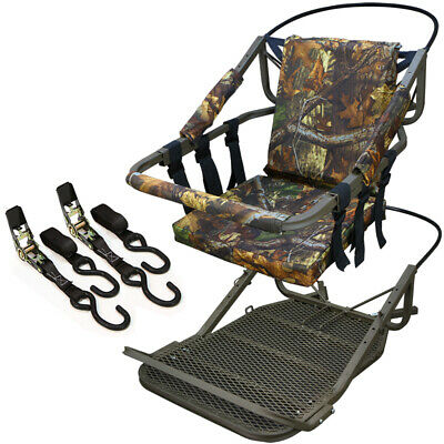 Tree Stand Climber Climbing Hunting Deer Bow Game Hunt Portable w/Harness 300lb ()