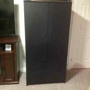 Black IKEA wardrobe