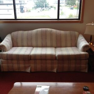 GREAT VALUE!  CAMEL BACK SOFA , ALSO A WINGBACK CHAIR