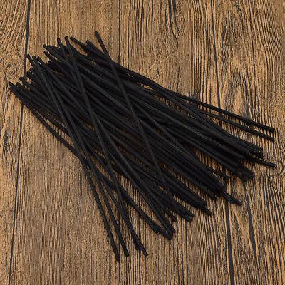 Stick-duft-Öl (Diffusor Stick Duft Öl Schwarz Rattan Haus Dekoration Reed Ersatz 3mm*20cm 50x)