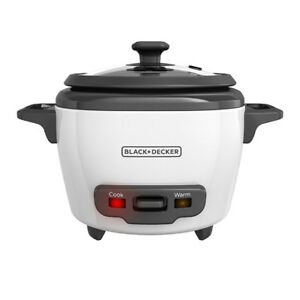 BLACK+DECKER 1.5-Cup Dry/3-Cup Cooked Rice Cooker, White, RC503