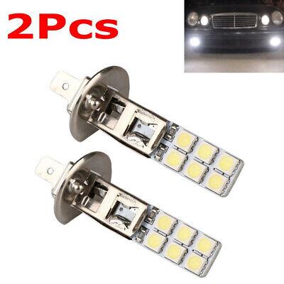 2X H1 12SMD LED 5050 6000k 12V Replacement Bright White Fog Driving Light Bulbs