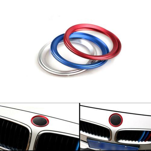 Car Front Rear Logo Chrome Ring Decoration For BMW 3 4 Series M3 M4 E36 E46 E90