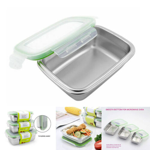 Portable Stainless Steel Lunch Box Microwave Food Container
