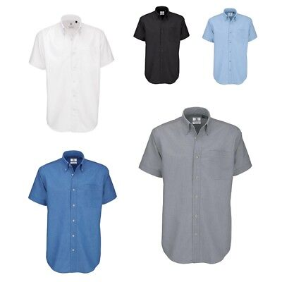 B&C: Herren kurzarm Hemd, Business, in den Größen S - 6XL * Oxford NEU Herren Oxford
