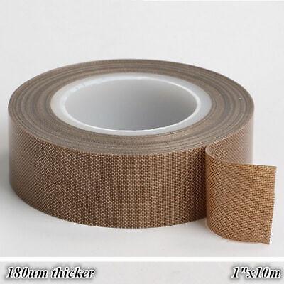 1 X33ft Teflon Tape Ptfe 180um Thicker 662 Adhesive High-temp Fiberglass Us