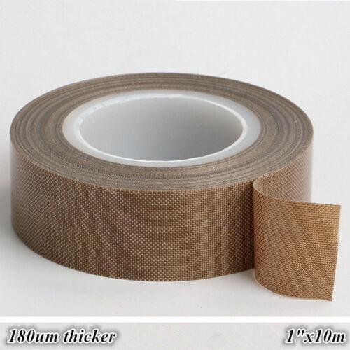 "1"" x33ft Teflon Tape PTFE 180um Thicker 662℉ Adhesive High-Temp Fiberglass US"