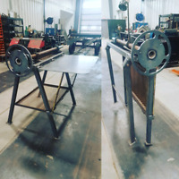 Portable mulcher balancing, fab tables and custom welding