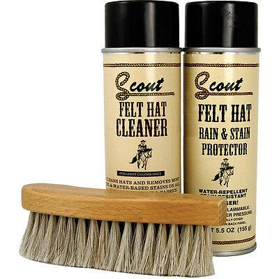 Scout Felt Hat Care Cleaner Kit For Light Or Dark Felt Hats Removes Oil & Stains (Hat Care Kit)
