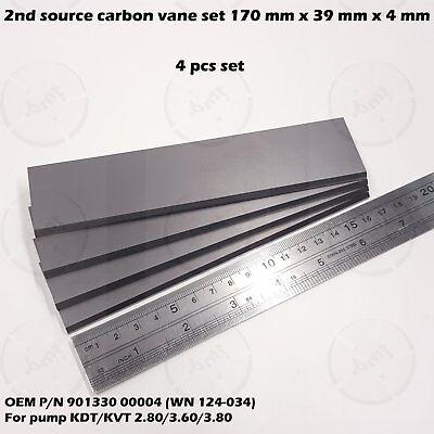 4 Pcs Carbon Vane Set For Becker Pump Kdtkvt 2.803.603.80 901330 Wn124-034