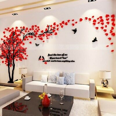3D Stereo Acrylic Wall Sticker Sitting Room TV Background Home Wall Decoration](Room Background)