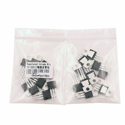 Triode Transistor Assortment Regulator Voltage Accessory Kits With Pin 10pcslot
