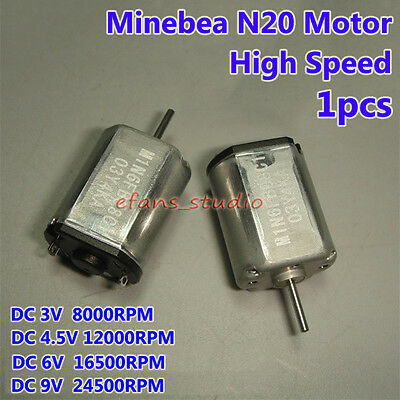 Minebea N20 Motor Dc 3v 5v 6v 16500rpm High Speed Precision 12mm Mini Dc Motor