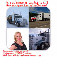 Company Long Haul Truck Driver's and Expert Owner Operators