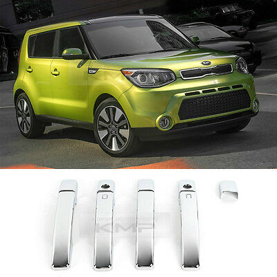 Outside Chrome Door Handle Catch Cover Garnish for KIA 2014-2017 All New Soul