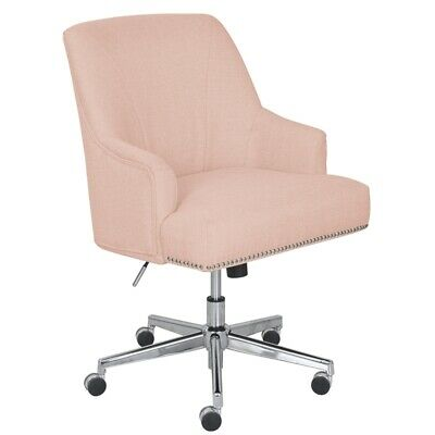 Serta Style Leighton Home Office Chair Blush - Pink Twill Fabric