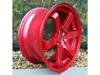 """18"""" Bola B1 Candy Red for VW Audi Seat Etc"""