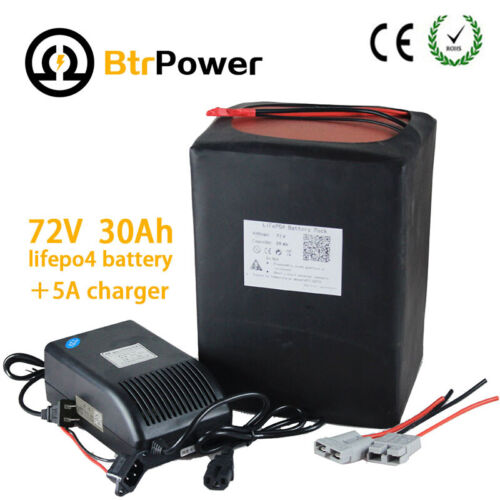 BtrPower 72V 30ah 24S Lifepo4 Rechargeable Battery Pack For 3000W Ebike scooter