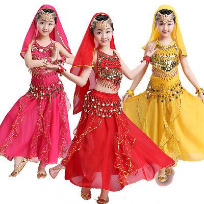Kinder Mädchen Bauchtanz Kostüm Kleid Bollywood Party Indischer Tanz - Indische Kostüm Kinder