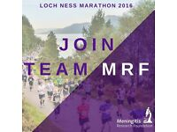 Run the Loch Ness Marathon and support Meningitis Research Foundation