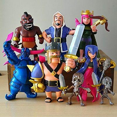 8Pcs Set Phone Game Coc Figures Supercell Model Clash Royale Action Figures Gift