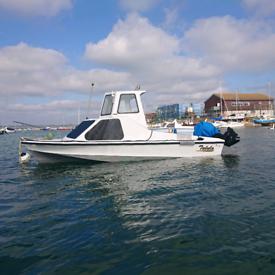 Fishing Boat Shetland 535 &2001 Mariner Bigfoot60 Hp 2 Stroke Outboard