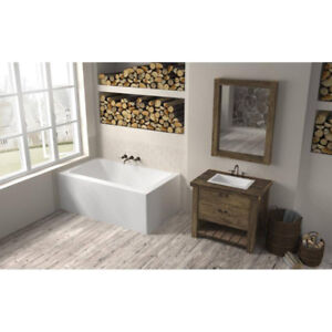 Oceania LO6631 Loft Right Drain Front And Right Skirts Bathtub C