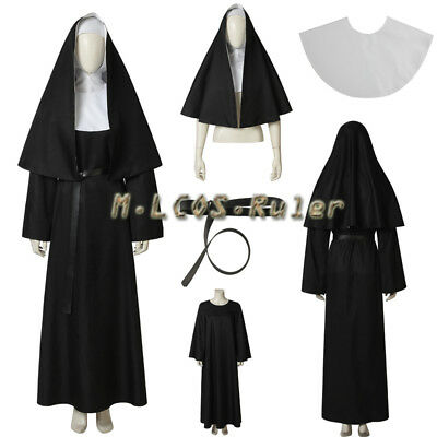 New The Nun Valak Demon Nun Cosplay Costume Halloween Costume Made for Adult ](Custom Made Costumes For Halloween)
