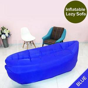 Fast Inflatable Sleeping Bag Lazy Air Sofa Bed Camping Hangout Melbourne CBD Melbourne City Preview